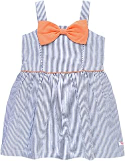 Baby/Toddler Girls Sleeveless Sun Dress Fit and Flare Bow Dress