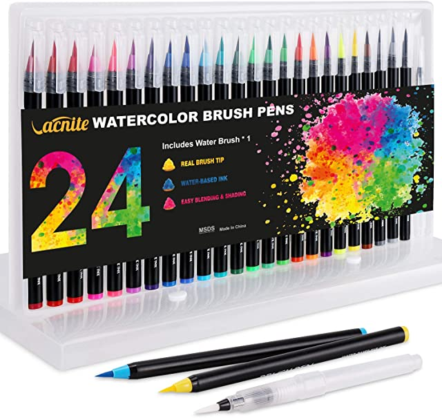 Metallic Brush Markers Set Of 15 Assorted Colors For C Dyvicl Metallic Markers