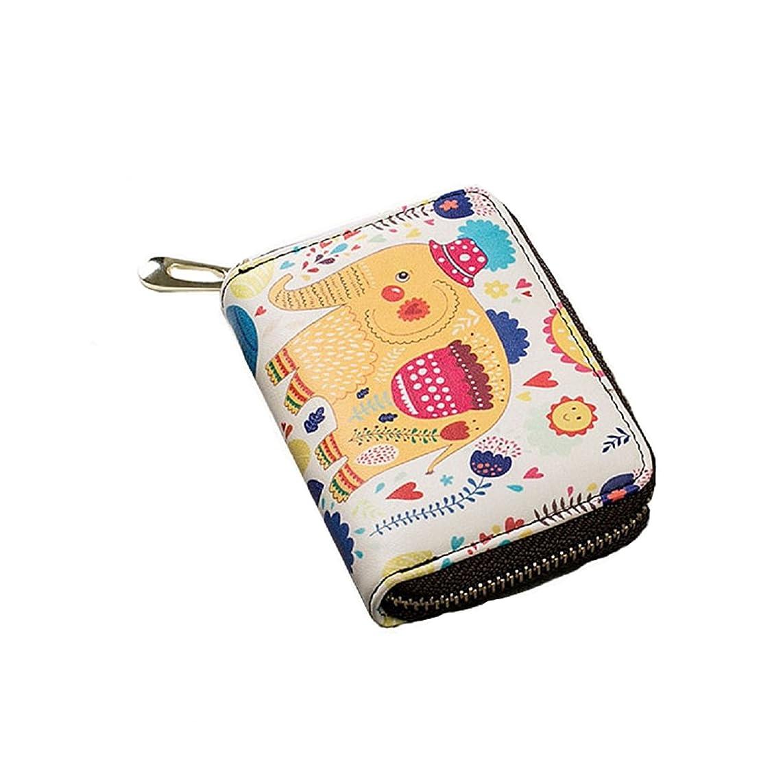 騒宗教的な富ミニ財布レディースふたつ折り小さい小銭入れカードケースコインケース11ポケット大容量