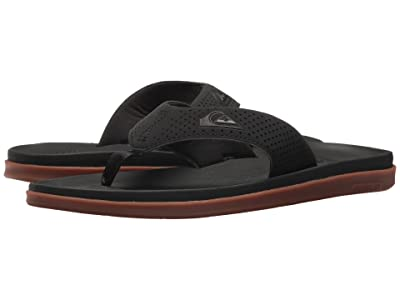 Quiksilver Haleiwa Plus (Black/Black/Brown) Men