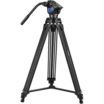 Digitek Professional Video Tripod with Multipurpose Head for Low Level Shooting, Panning for All DSLR Camera. Made Aluminium Material, Maximum Height 5.10 Feet, Load Capacity 15kgs (DTR-510VD PRO PLUS)