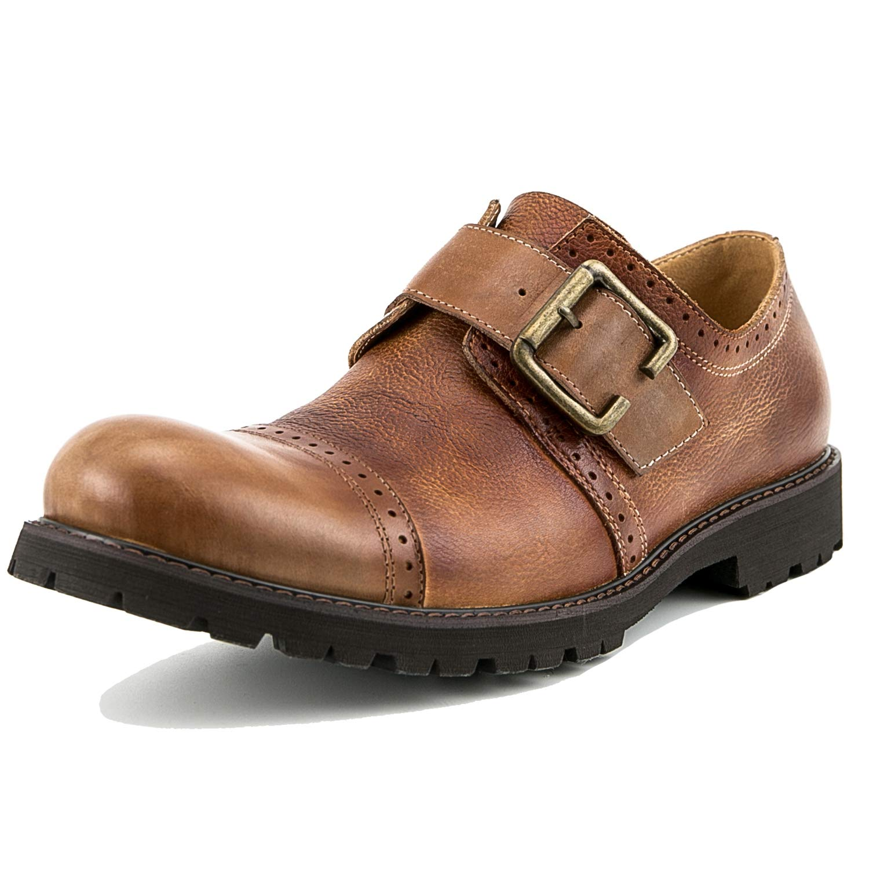 [WEWIN] ビジネスシューズ 革靴 本革 紳士靴 モンクストラップ メンズ ゴアテックス 革靴 ストレートチップ フォーマル 結婚式 ドレスシューズ ファッション
