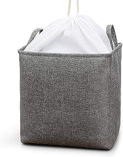 Swadal Sac de rangement en coton et lin - Gris
