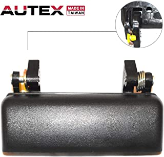AUTEX Black Exterior Outside Front Right Passenger Side Door Handle Compatible with Ford Ranger 1993-2003 Replacement for Mazda B2300 B3000 B4000 94-98, 90021
