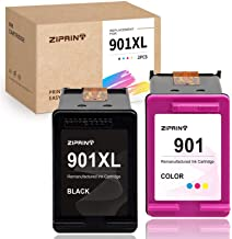 ZIPRINT Remanufactured Ink Cartridge Replacement for HP 901 XL 901XL use with Officejet 4500 J4680 J4500 J4580 J4550 J4540...