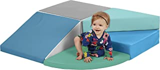 ECR4Kids SoftZone Tiny Twisting Foam Corner Climber - Indoor Active Play Structure for Toddlers and Kids - Soft Foam Play Set, Contemporary