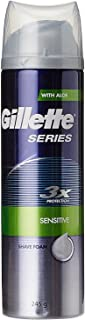 Gillette Series 3x Protection Sensitive Shave Foam with Aloe - 245 g