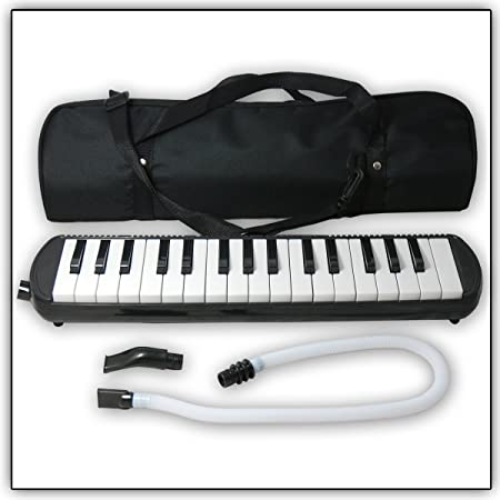 Tuyama® TMD-132 Melodica Negro Con boquilla y manguera de soplado, Incluye una bolsa para transporte (32 teclas)