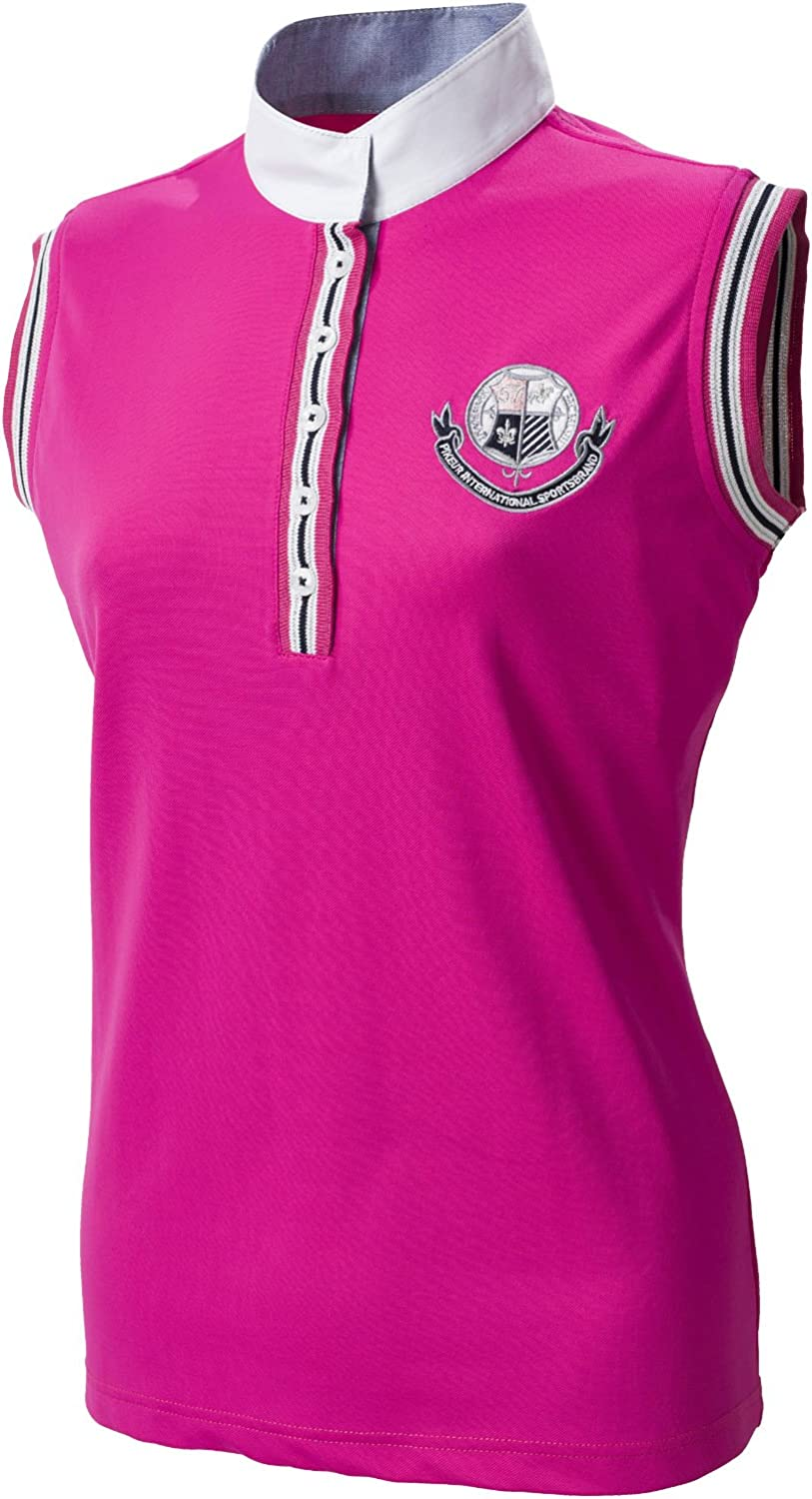 Pikeur  ladies sleeveless competition shirt with stripecontrasts