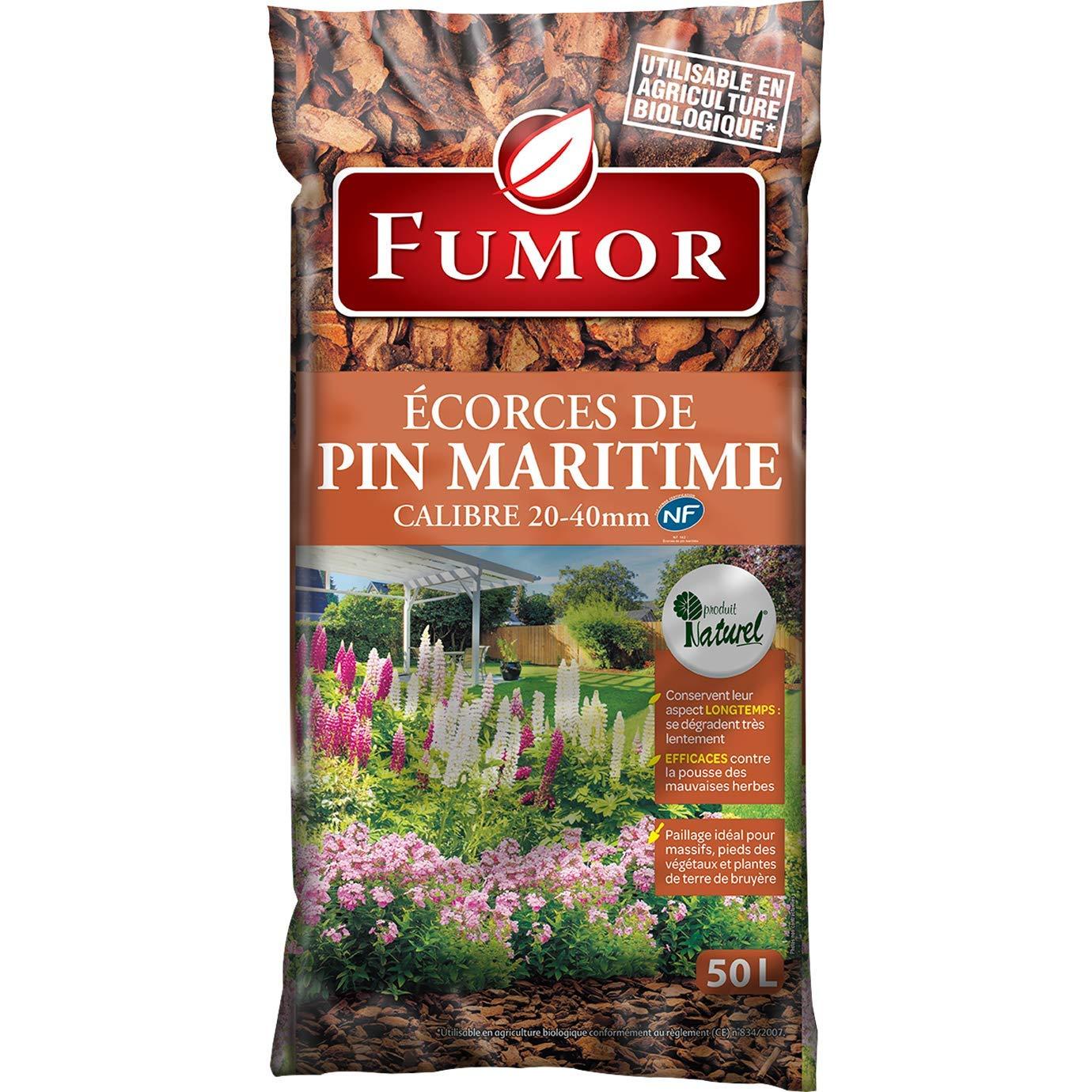 Fumor – Cortezas de pino Maritime 50 L ideal para los macizos de los pies, plantas de tierra, ruido, 100% natural – Fumpin: Amazon.es: Jardín