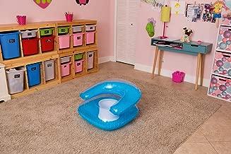 MDN Transparent Child Chair/Junior Fun Chair/Kids Pool Chair/Kids inflate Chair/Beach Chair for Kids - 76 x 76 cms (Blue)