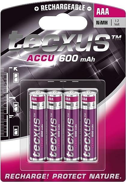 Tecxus 14112 Micro Aaa Akku 4 Er Pack Elektronik