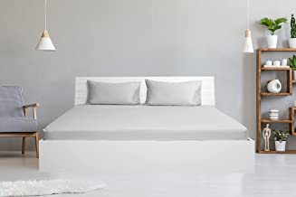 Hotel Linen Collection 250TC 1cm stripe White Double Fitted Sheet 150 x 200 + 30 cm