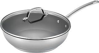 Circulon 77887 Genesis Deep Stainless Steel Nonstick Frying Pan / Fry Pan / Skillet with Lid - 12.5 Inch, Silver