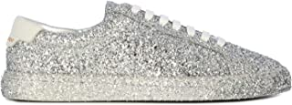 SAINT LAURENT Luxury Fashion Womens 5900271G0208194 Silver Sneakers | Fall Winter 19
