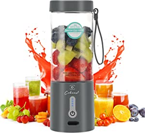 Powerful Portable Blender for Shakes and Smoothies, COKUNST 18 Oz Personal Size Blender with Rechargeable Type-C and 6 Blades, Fruit Veggie Juicer Mini Blend Jet 2 Portable Blender Cup for Travel Sports Kitchen