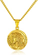 gold coin with jesus on it