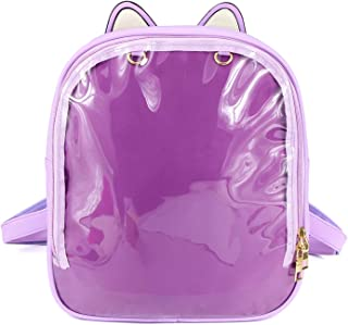 Women Black Backpack Cute Satchel Candy Color Transparent Green Backpack Kids Girls Perfect For School