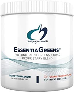 Designs for Health Green Smoothie Powder - EssentiaGreens Gluten-Free Super Greens Powder with Organic Spirulina, Kale + M...