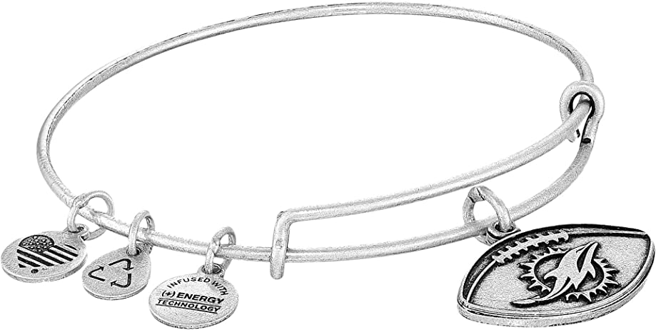 Alex and Ani Womens NFL Miami Dolphins Football Bangle