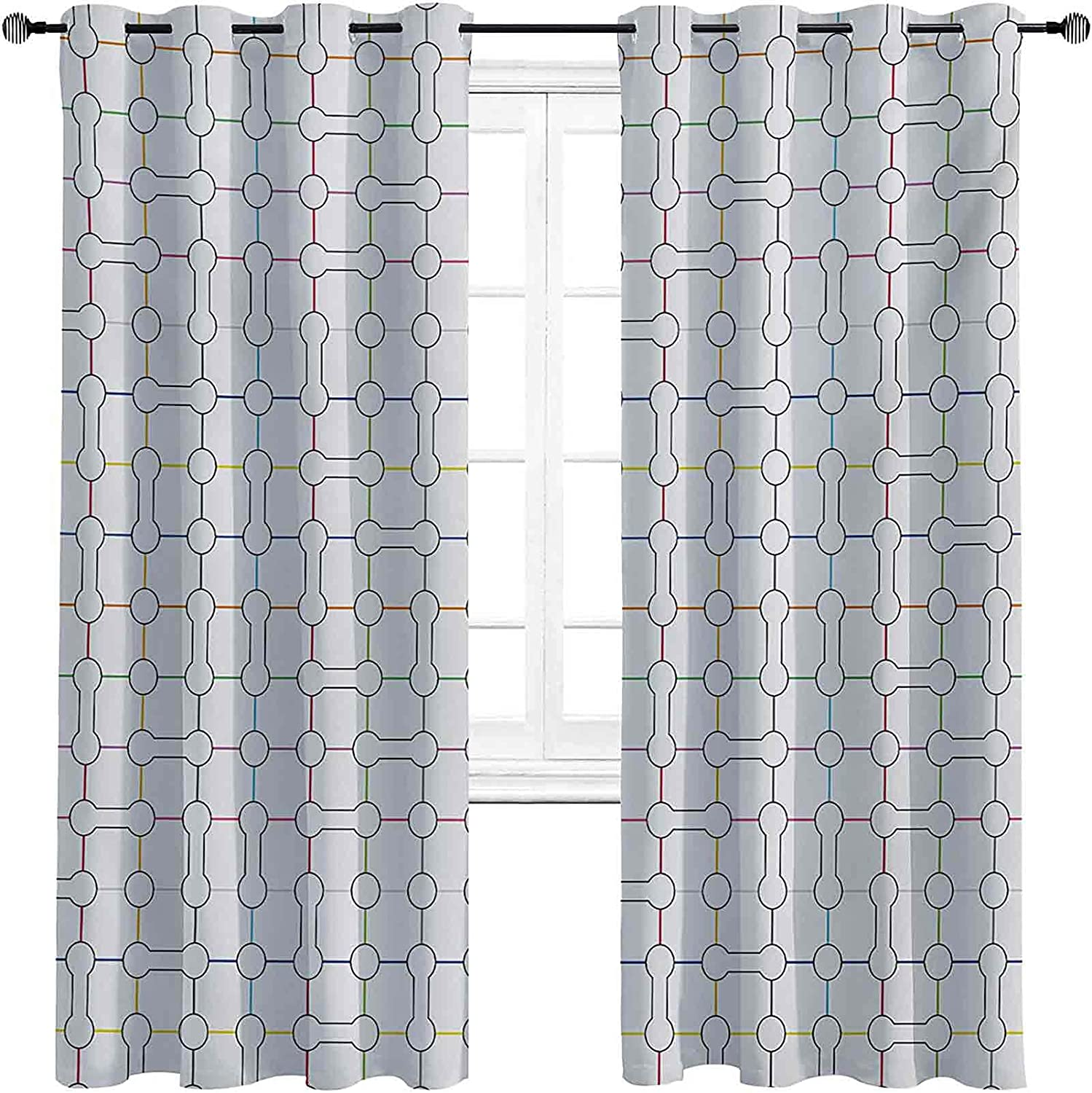 Overseas parallel import regular item with Grommets blackoutModern Art Computer Curtain Inspired Bone Max 79% OFF