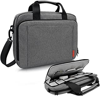 iCozzier 15-15.6 Inch Laptop Shoulder bag, Handle Briefcase Electronic Accessories Storage Messenger Carrying Protective Case for Ultrabook/Notebook/MacBook-Grey