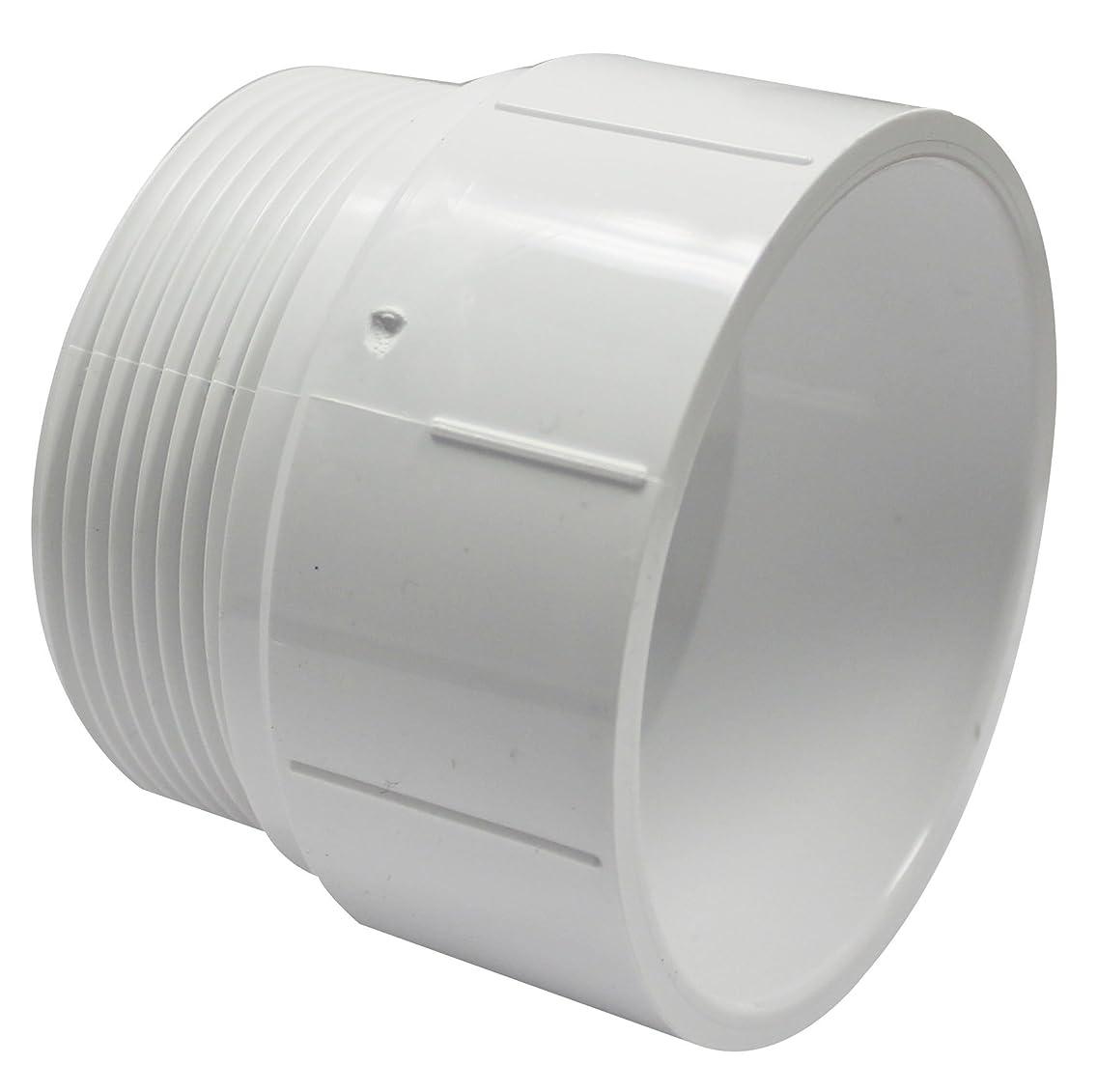 Canplas 192873 PVC DWV Male Adapter, 3-Inch, White