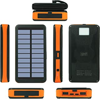 $58 » Sponsored Ad - Solar Charger 20000mAh - High-Capacity Dual-USB, Wireless Charging Station - Portable Solar-Powered Box for...