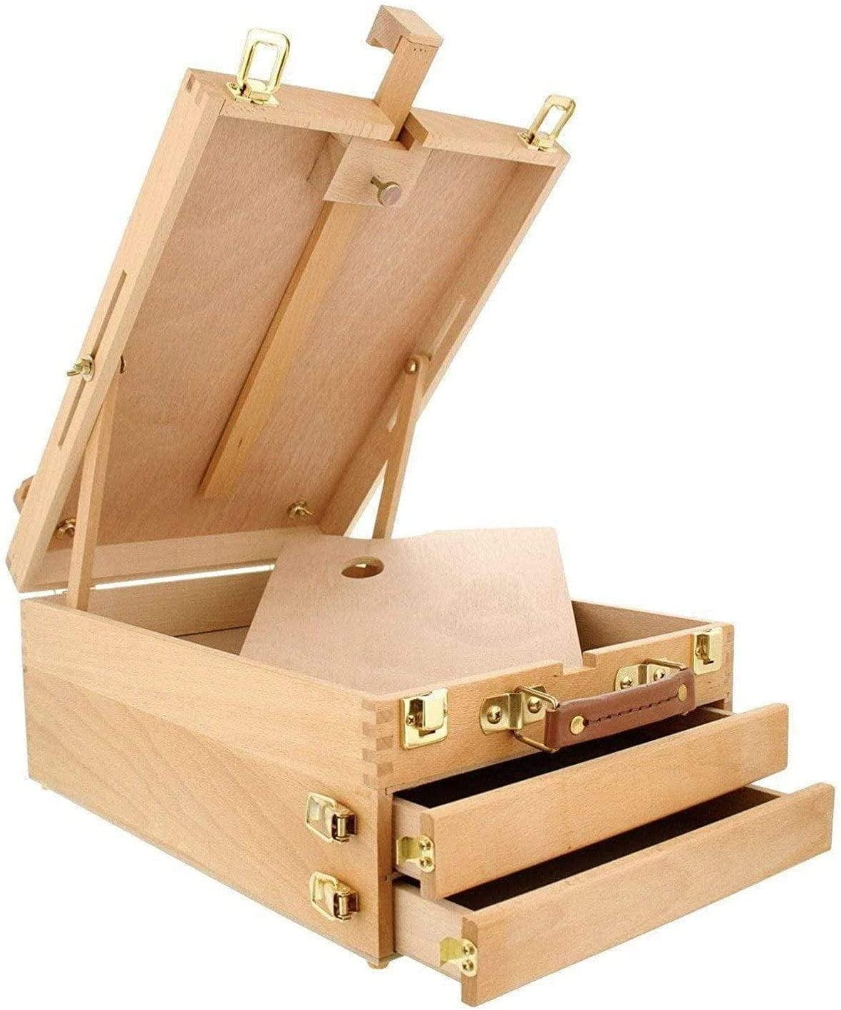 KINGART Beechwood Limited time Max 85% OFF trial price Extra Large 2-Drawer Tabletop Adjustable