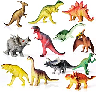 AILIHEN Dinosaurs Toys Includes Kids 12-Pack of Realistic Plastic Figures, 5-8
