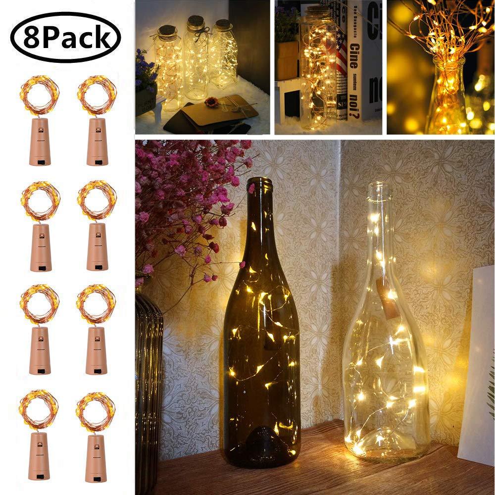 Luz de Botella, 8 Pack Luz Corchos, Luces Led para Botellas de ...