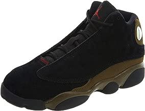 Jordan 13 Retro Little Kids' Basketball Shoes Black/Gym Red-Light Olive 414575-006 (3 M US)