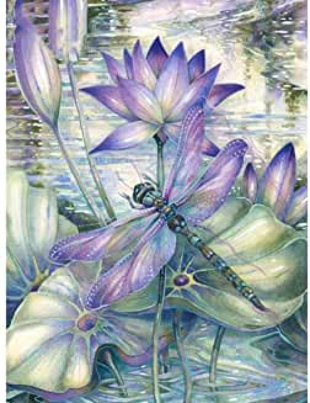 PaintbyNumbersforAdultsbyDIY Blue Lotus Adult by Num Cheap SALE Start Easy-to-use Paint
