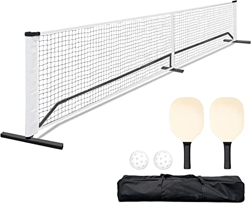 2021 ORIENTOOLS 22 FT Portable Pickleball wholesale Net Set System with Carrying Bag, (2) Paddles, and (2) Pickleballs, Durable Sports Net for Indoor, Outdoor discount Court, Backyard, Beach, Driveway outlet sale