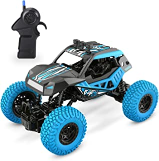 DEERC DE32 RC Car Offroad Trucks for Kids 1/20 Scale 2.4GHz Remote Control Racing Monster Trucks with Rechargeable Battery,RC Crawlers,Electric Hobby Toy Cars for Adults Boys & Girls