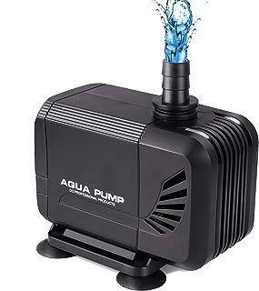 MVPOWER Bomba de Agua Sumergible Bomba para Estanque Fuente Acuario Potencia de 40W Velocidad de Flujo de 3000L/H Cabezal Hidráulico de 2.8M Boquillas de 19mm/22mm/25mm