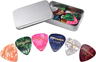 PPpanda Guitar Picks 48pcs, Guitar Plectrums for Your Electric, Acoustic, or Bass Guitar Thin, Medium, Heavy 0.46 0.58 0.7...