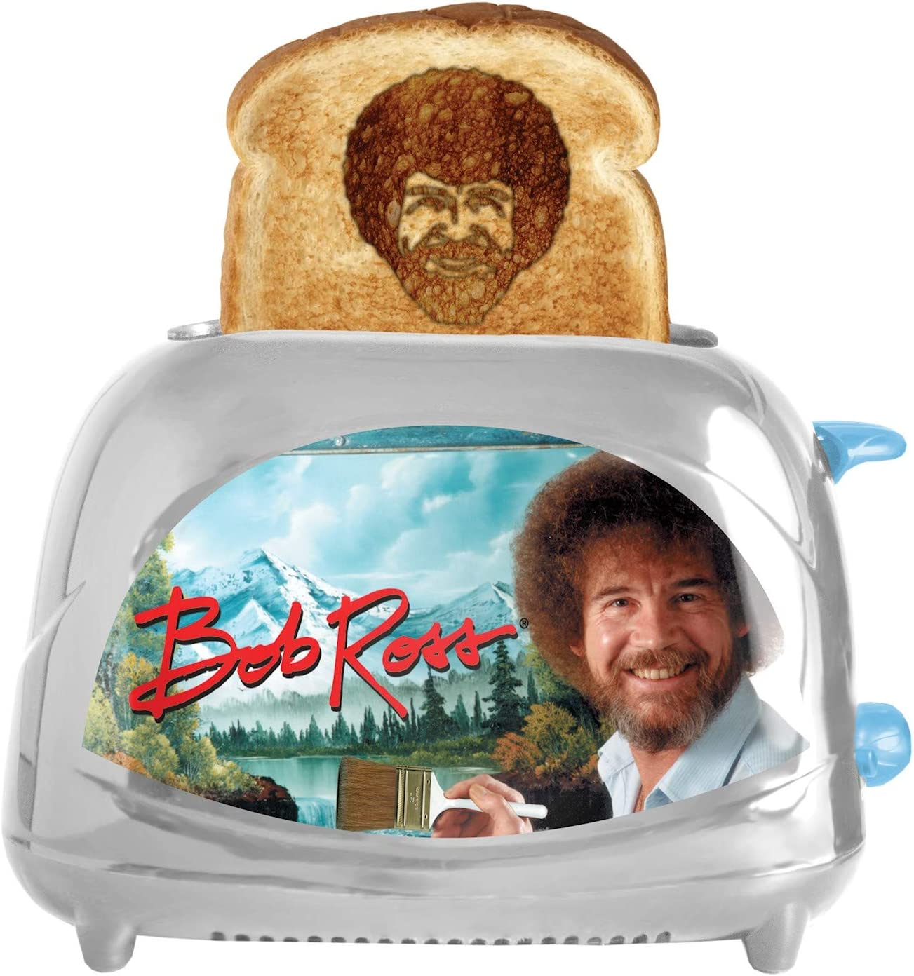 Bob Ross Toaster - Super-cheap Toasts Bob's Spasm price onto Iconic Your Toast Face