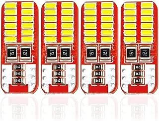 4x White LED Error Free Eyebrow Eyelid Light Bulb Compatible for 2008-2012 Mercedes Benz C300 C350 W204 C63 AMG