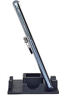 Suporte de Mesa para Celular ou Tablet serve em todos os aparelhos - Modelo Quadrado (Preto)