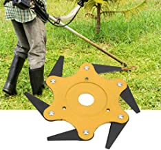 Gotian Lawn Mower Grass Eater Trimmer Head-Brush Cutter Tool 6 Steel Razors Garden, a Practical Replacement Accessory for Your Trimmer, Perfect for Garden or Agricultural Use (Yellow)