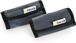 Hauck Smooth Me Gurtpolster für Babyschalen und Kindersitze, Befestigung mit Klettverschluss, 2 Stück, grau, 13 x 6 cm