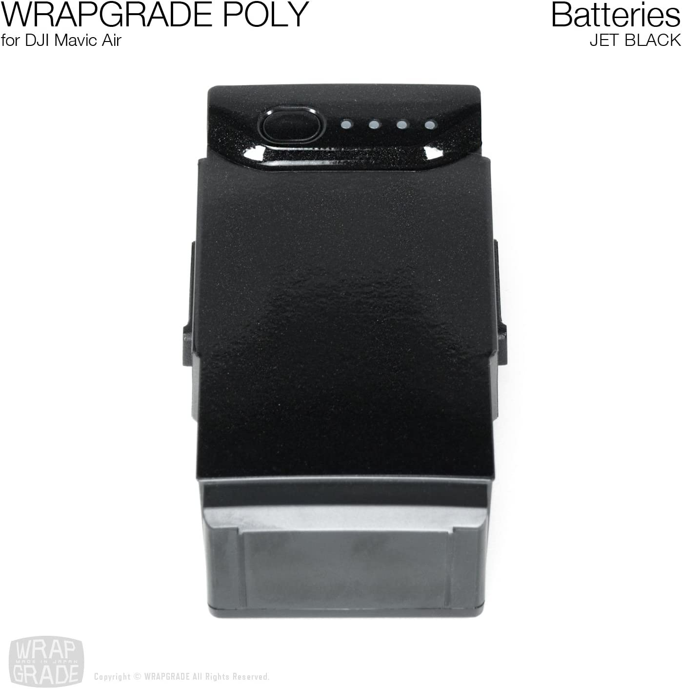 Racing White 3 Batteries WRAPGRADE Poly Skin Compatible with DJI Mavic Air