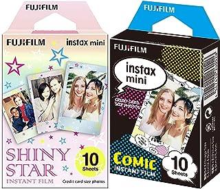 Instax Fujifilm Mini Película fotográfica, Cómic, Pack 10 películas + Fujifilm 16404193 Colorfilm Mini Star WW 1, película...