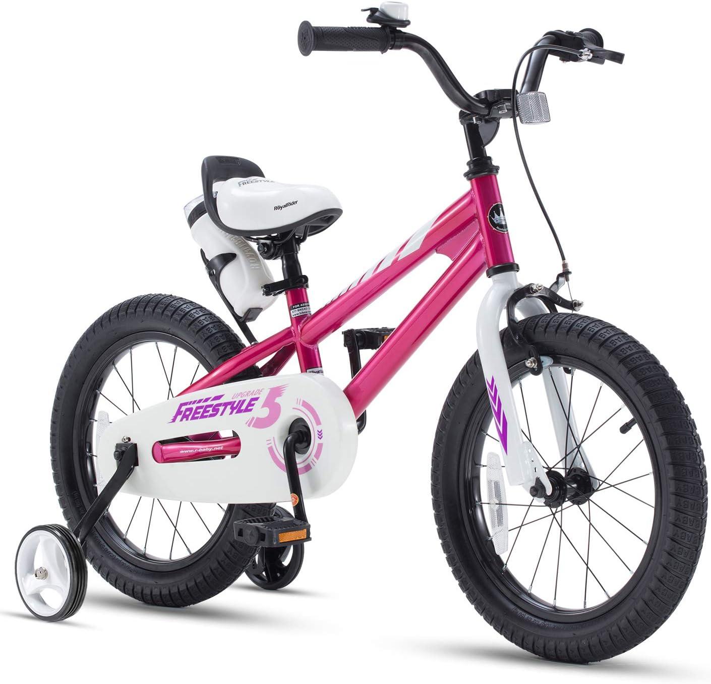RoyalBaby お金を節約 Kids Bike Boys Girls Freestyle 16 年間定番 w Inch 12 Bicycle 14