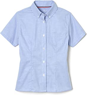 French Toast Junior's Short Sleeve Oxford Shirt, Light Blue, XL