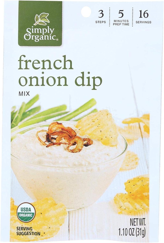 Mesa Mall Simply Organic French Onion Dip Mix 12-1.1 oz. - of shop Case