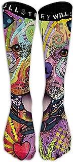 Colores Imprimir Pitbull Cyber Monday Unisex 100% nuevo Cómodo todo el año Calcetines hasta la rodilla Calcetines hasta la rodilla Calcetines de tubo