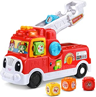 LeapFrog Tumbling Blocks Fire Truck, Red, Great Gift For Kids, Toddlers, Toy for Boys and Girls, Ages 2, 3
