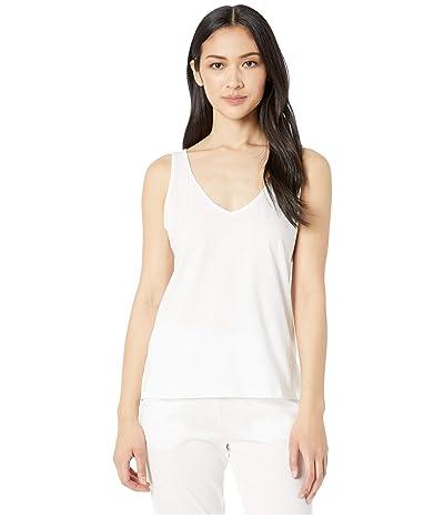 Skin Natural Skin Jaclyn Organic Cotton V-Neck Tank (White) Women